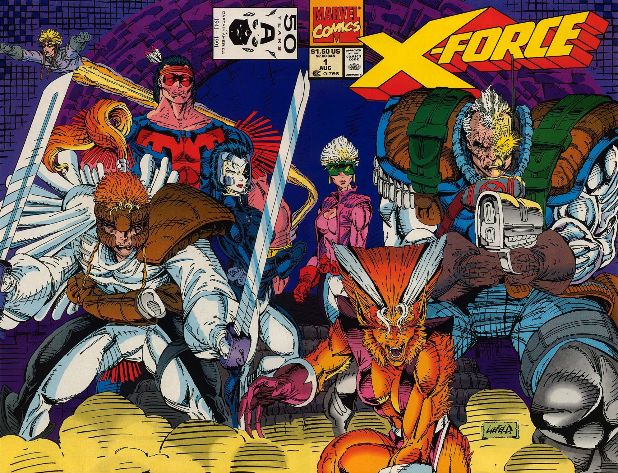 Wrap around cover for X-Force #1