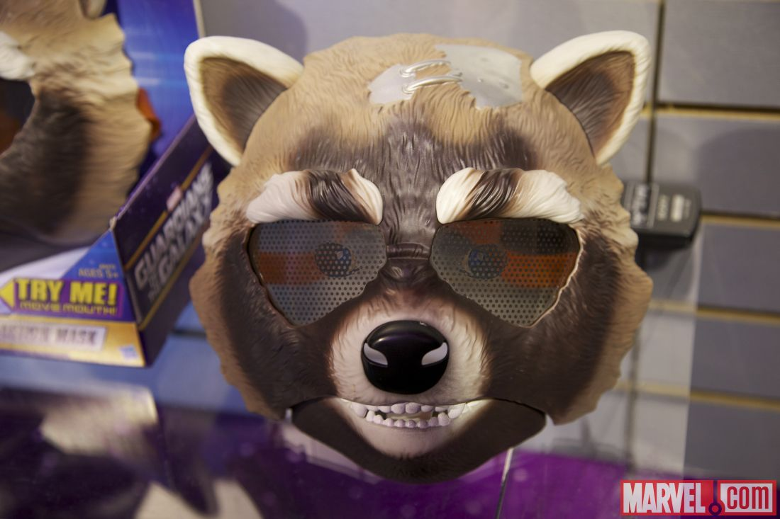 Toy Fair 2014 Rocket Raccoon mask