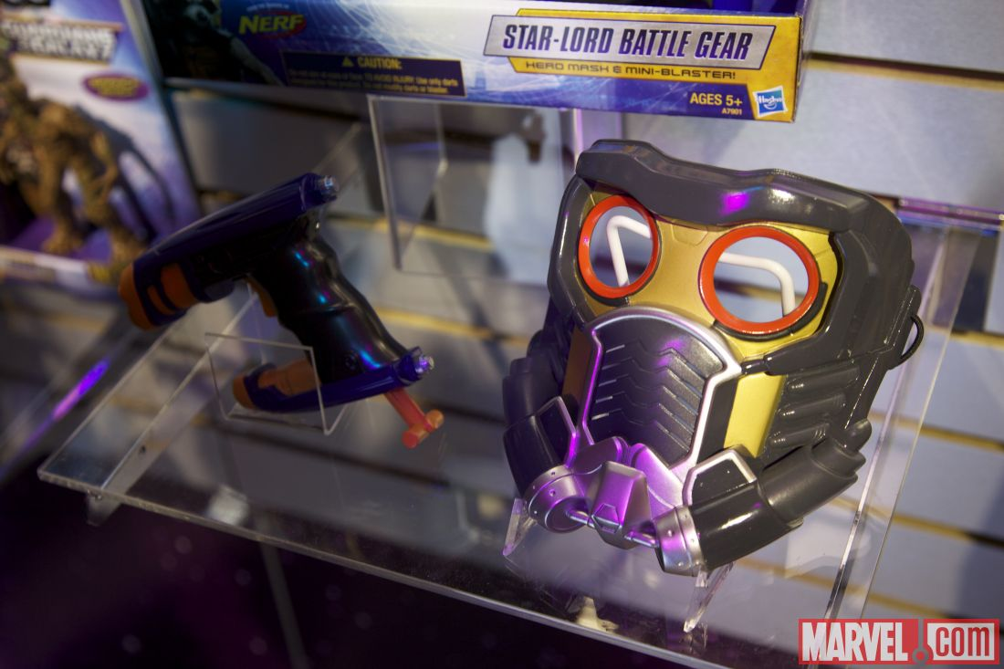 Toy Fair 2014 Starlord mask and gun set