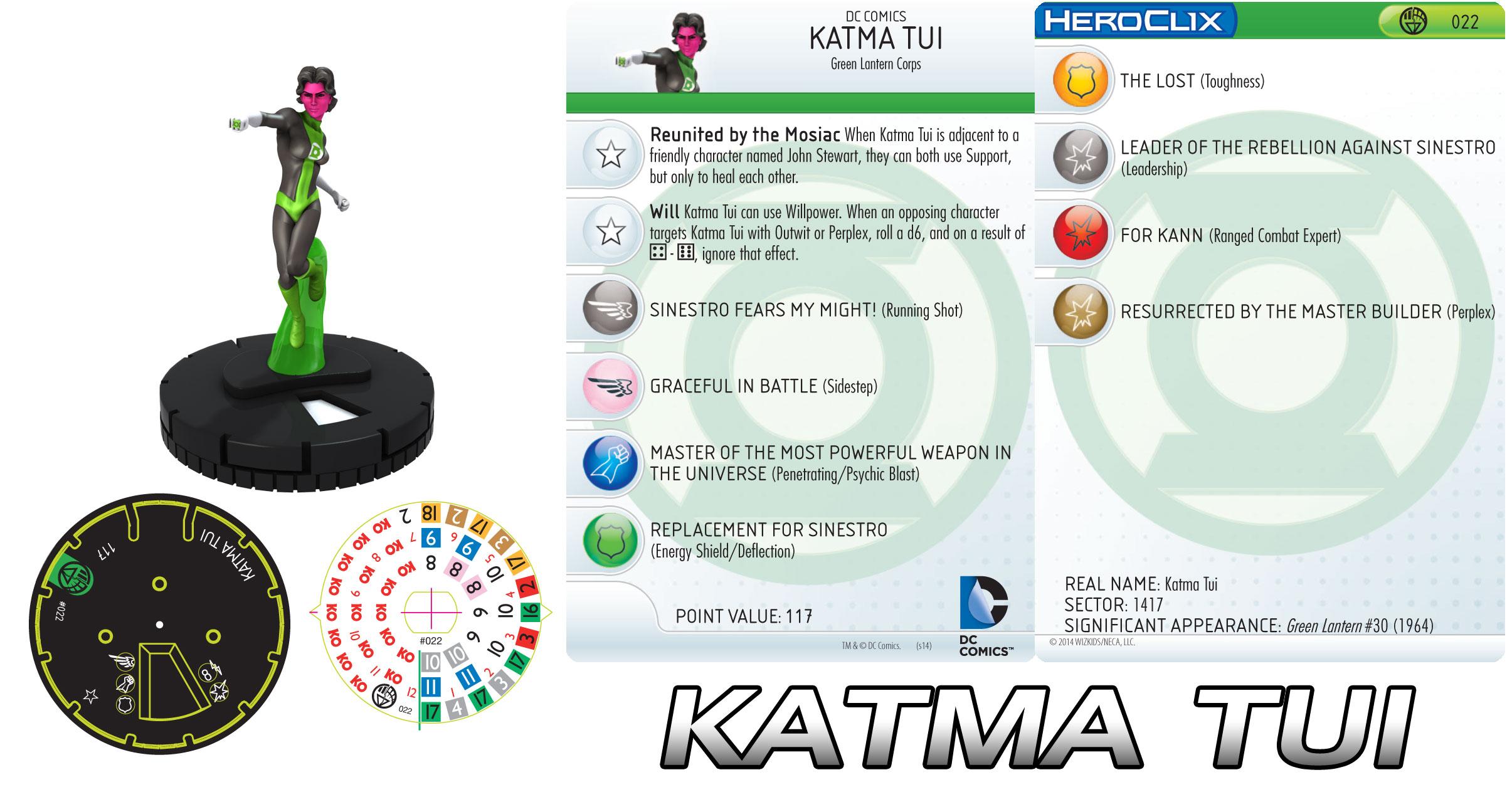 Katma Tui Heroclix figure