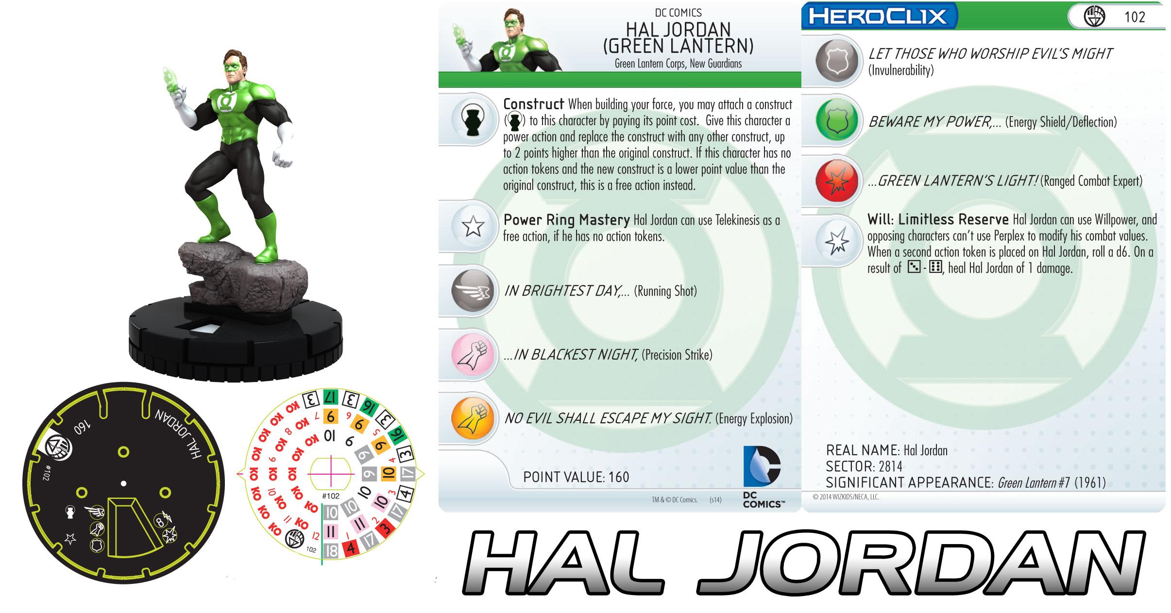 Hal Jordan Heroclix figure