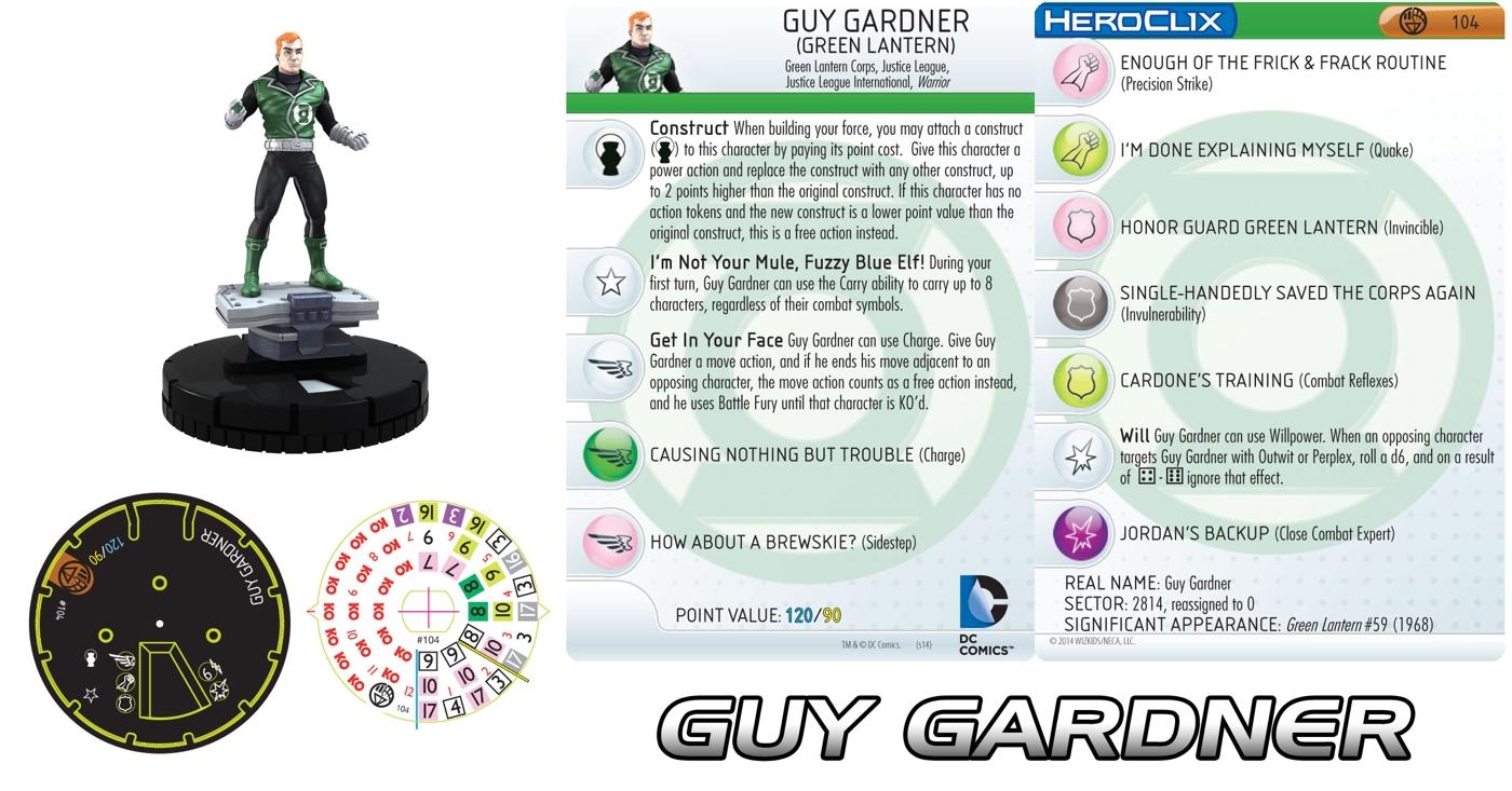 Guy Gardner Heroclix figure