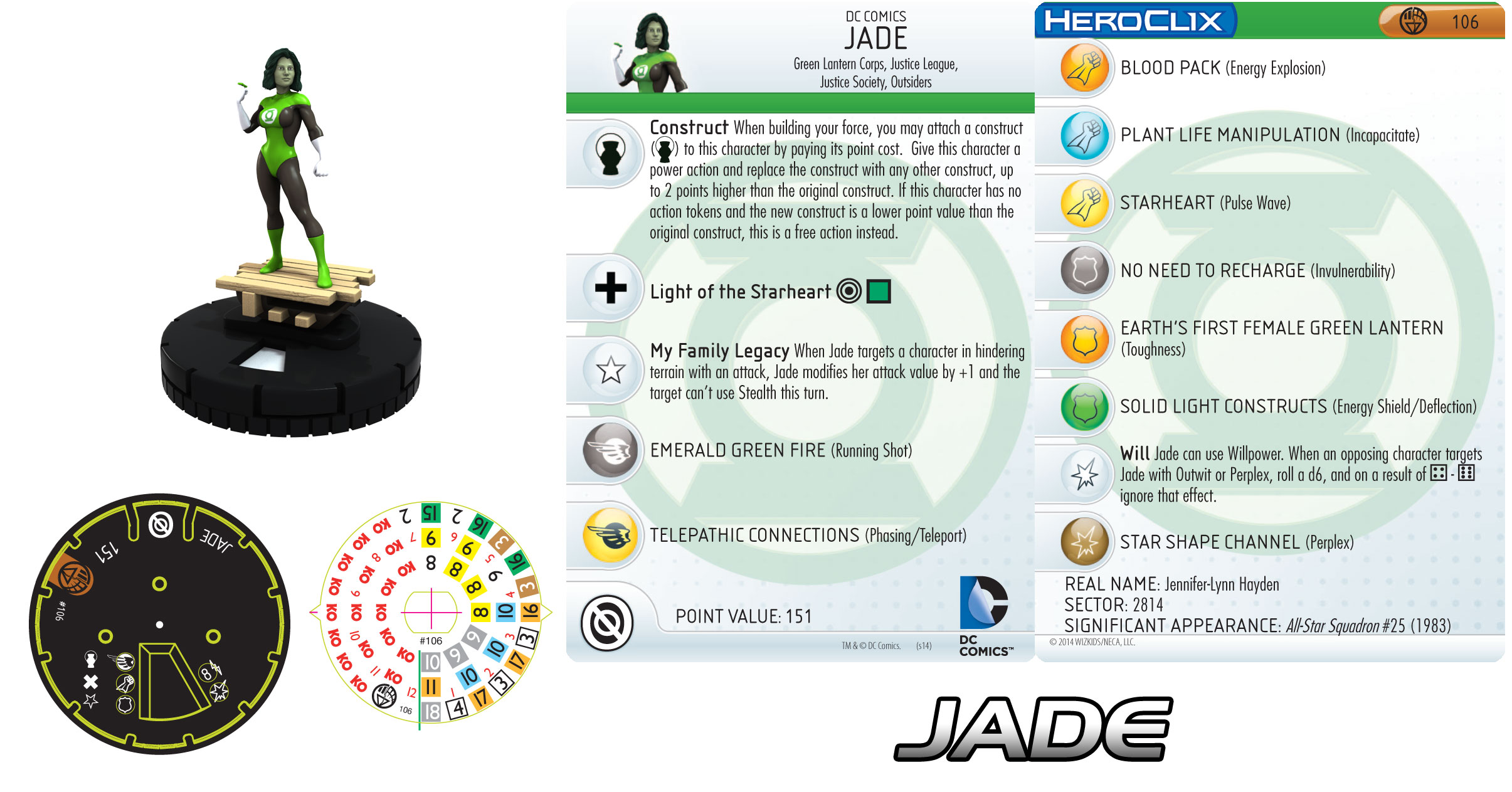Jade Heroclix figure