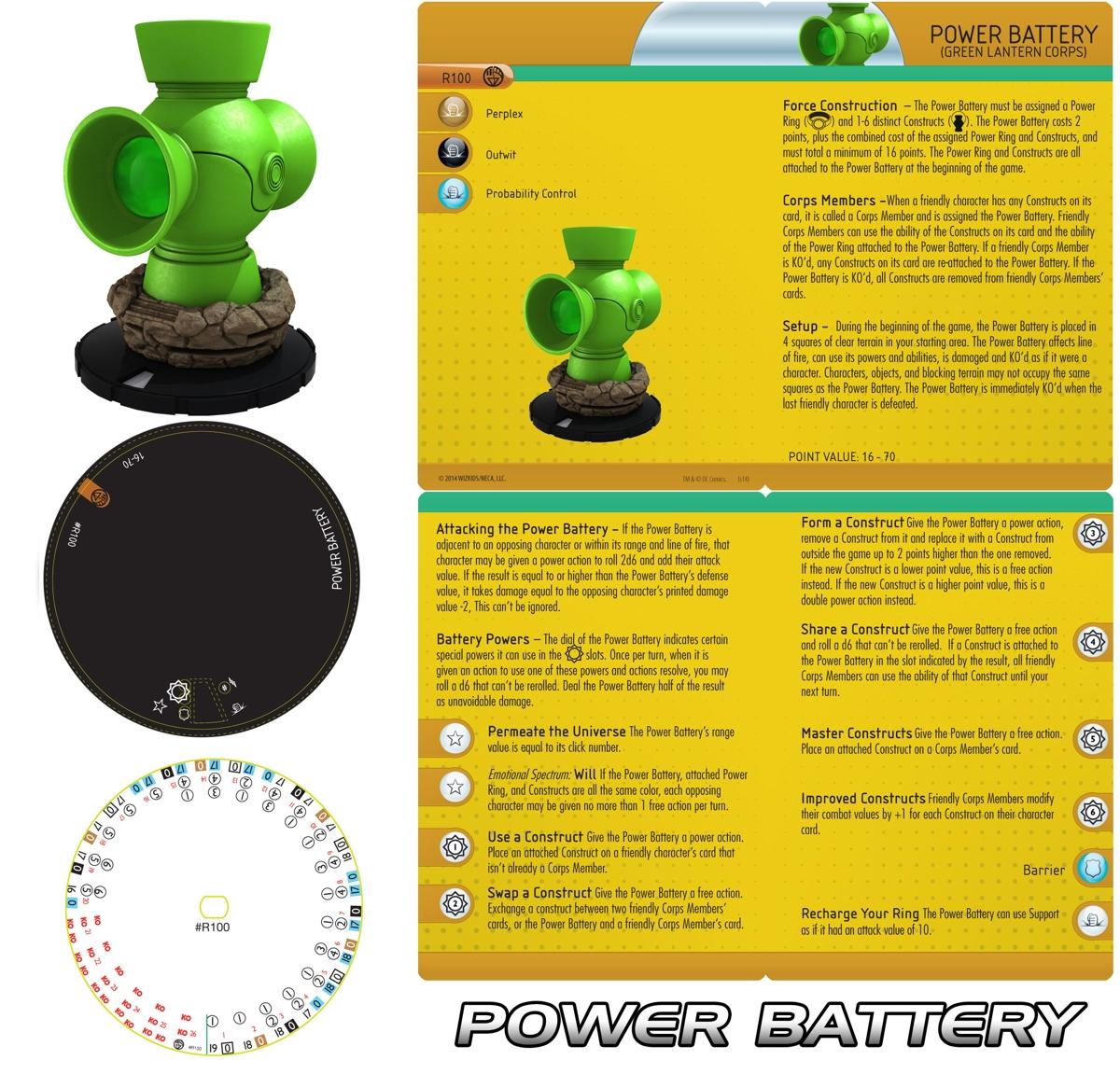Heroclix Green Lantern power battery