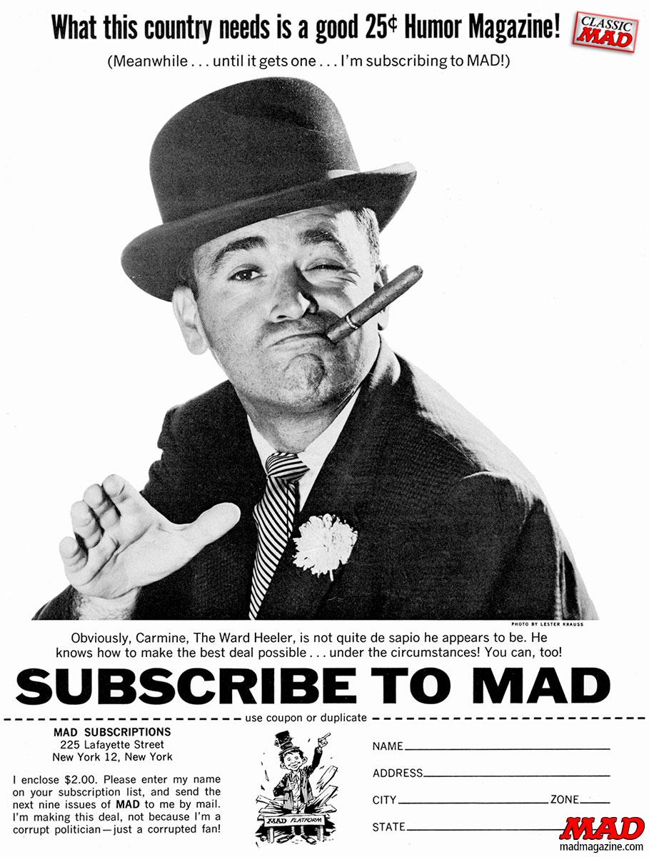 Al Feldstein Mad magazine ad